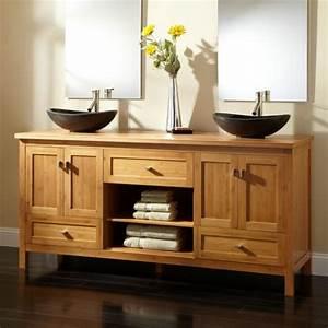 Feuchtraumtapete Fürs Bad : waschbeckenunterschrank aus bambus ~ Watch28wear.com Haus und Dekorationen