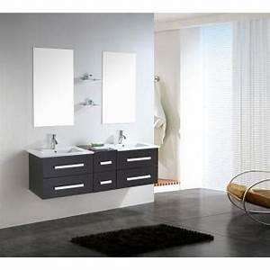 Meuble Salle De Bain 150 : meuble salle de bain double vasque luxe beau meuble double vasque 150 cm mod le rome ~ Teatrodelosmanantiales.com Idées de Décoration