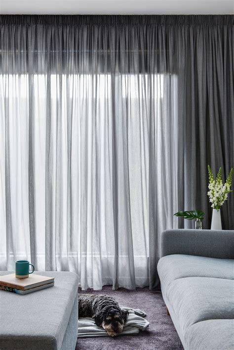pencil pleat curtain  elain asphalt sheer fabric