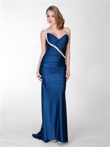 mid length dresses for wedding guests royal blue taffeta sequined one shoulder sweetheart neckline sleeveless floor length