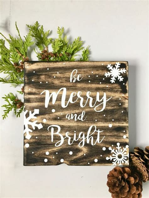 wood wall art merry  bright holiday art christmas