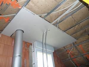 Pose Rail Placo Plafond : 22 f vrier 2012 pose du placo au plafond de l 39 tage ~ Dailycaller-alerts.com Idées de Décoration