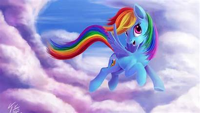 Pony Magic Rainbow Dash Friendship Skies Wallpapers