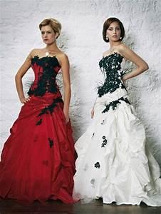 robe de mariee noire et blanche belle robe de mariage With robe blanche et rouge