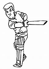 Cricket Coloring Pages Colouring Sport Sheets Clipart Batter Animated Sports Cartoon Activity Batsman Colour Activities Library Craft Clip Kidspot Cheerleading sketch template