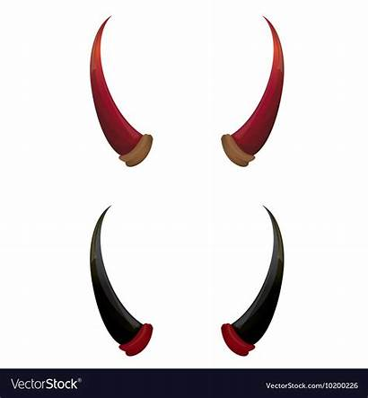 Horns Devil Vector Isolated Royalty Vectors