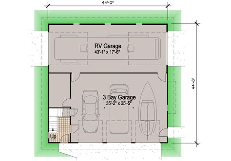 small home floor plan shingle rv garage 39 39 motor home southern cottages