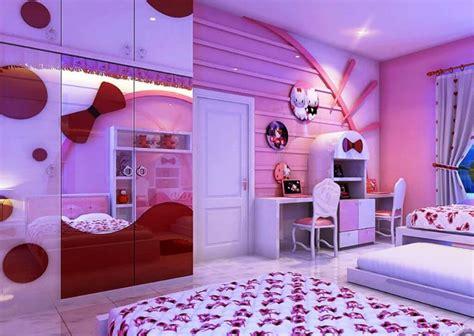 adorable  kitty bedroom decoration ideas  girls