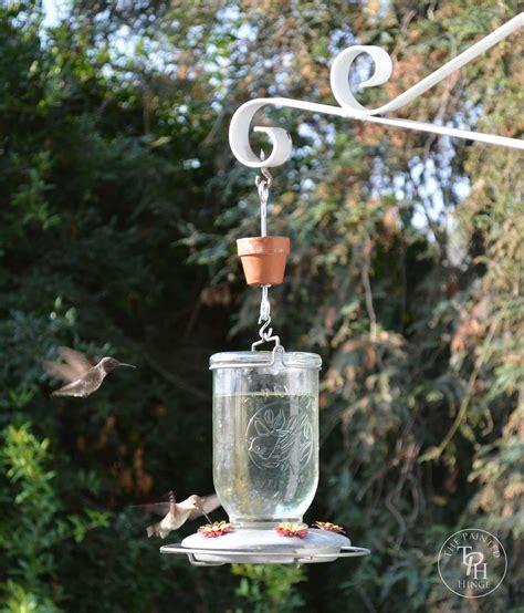 diy hummingbird feeder ant moat tutorial