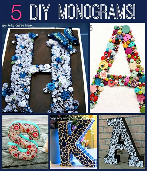 fun  unique monogram tutorials