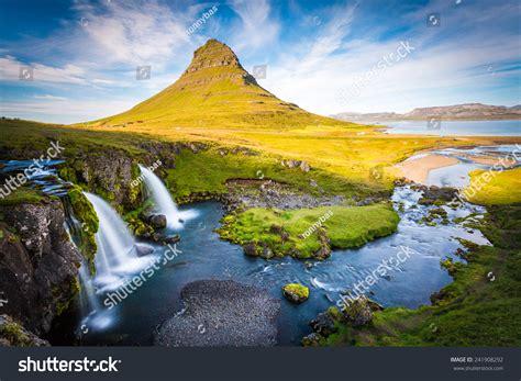 Kirkjufell Mountain Iceland Landscape With Waterfalls
