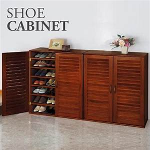 21 pair wooden shoe cabinet with adjustable shelves buy for Wooden shoe cabinet furniture