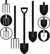 Shovel Clip Vector Pitchfork Illustrations Similar sketch template
