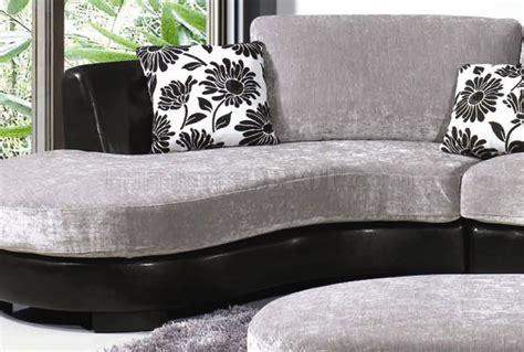 tone grey black modern sectional sofa wottoman