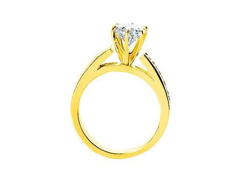 1.10ct Round Diamond Cathedral Engagement Ring Solid 18k
