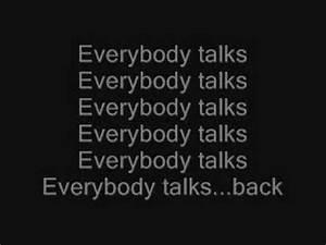 Everybody Talks Neon Trees Lyrics Chords Chordify