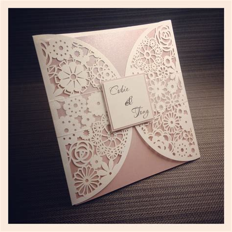 laser cut wedding invitations tree laser cut file invitation templates