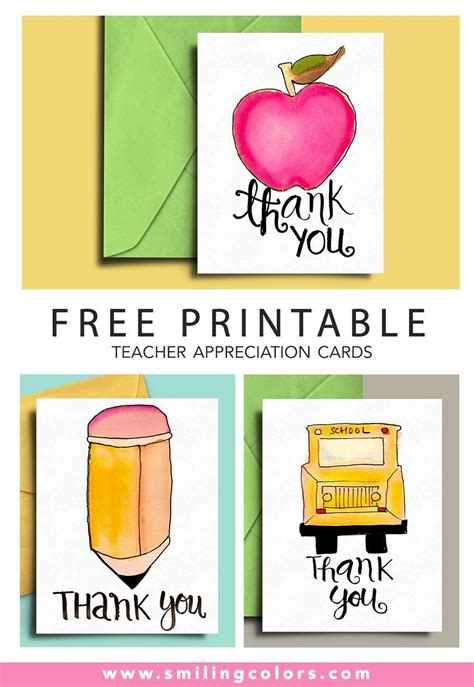 printable teacher appreciation cards smitha katti