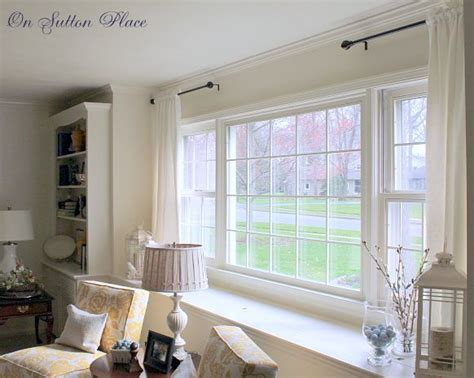 curtain rod for bay window best 25 picture window treatments ideas on