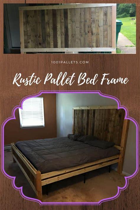 rustic king size pallet bed frame  pallets