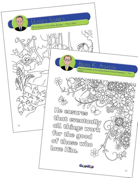 Coloring Quotable Pages Printable by Quotable Coloring General Conference Coloring Book