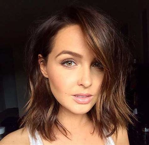 long bob brown hair bob hairstyles  short