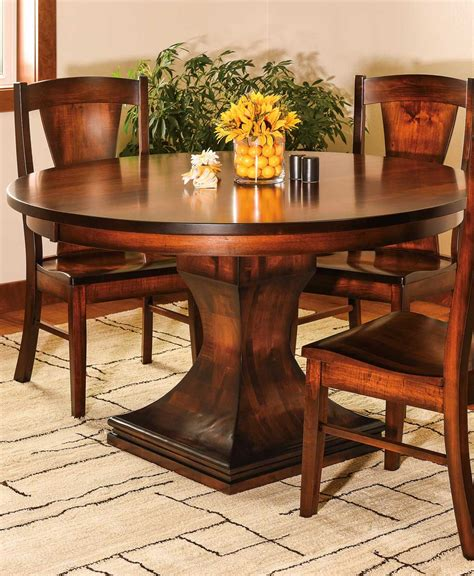 Pedestal Dining Room Table by Westin Single Pedestal Dining Table Amish Direct Furniture
