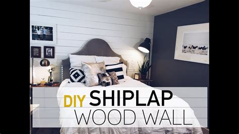 interior design diy wood wall white shiplap wall