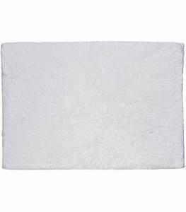 Grand Tapis Blanc : grand tapis de bain 100 coton ivoire moelleux 80cm ~ Teatrodelosmanantiales.com Idées de Décoration