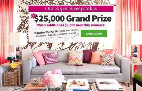 bhg sweepstakes bhg sweepstakes win 25 000 plus 5000 monthly sweepstakesbible