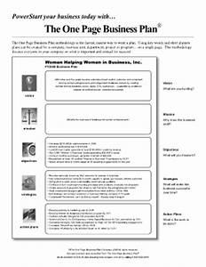 oprahcom one page business plan fill online printable With one page sales plan template