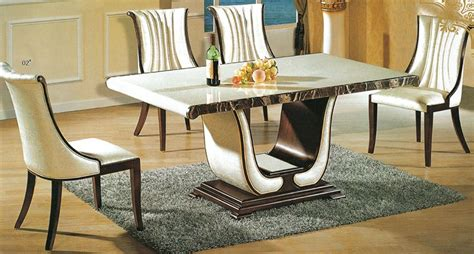 luxurious rectangular marble dining tables home