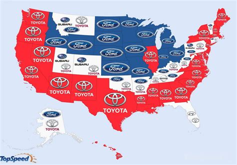 popular google searches  car brands map