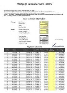 Escrow Analysis Spreadsheet by Escrow Calculator Excel