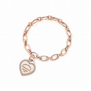 Return to Tiffany™ heart tag charm in 18k rose gold and ...
