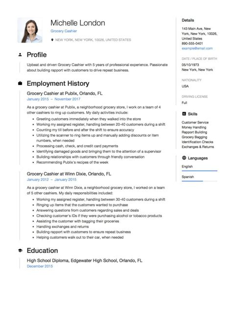 Describe Cashier On Resume by Grocery Cashier Resume Guide 12 Exle Pdf S 2019