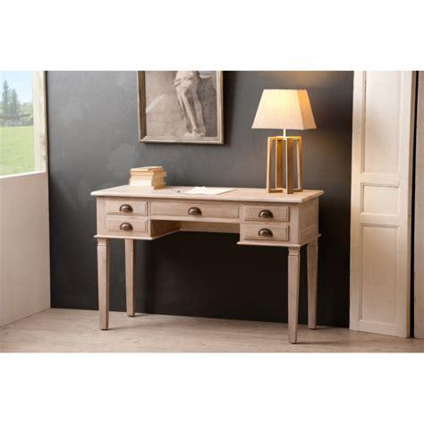 bureau teck bureau 5 tiroirs teck blanchi meubles macabane meubles