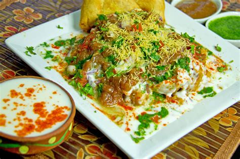 indian chaat cuisine pin kashmiri samosa recipe appetizers cake on