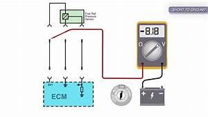 Fuel Rail Pressure Sensor Signal Voltage Low Pull Down