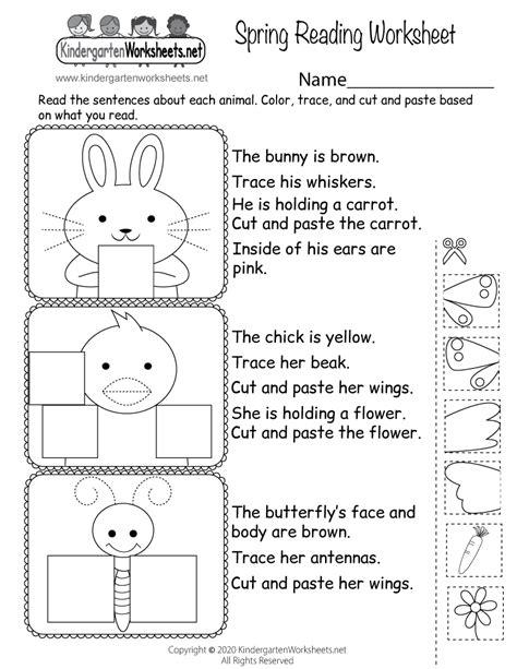learn  reading practice  kindergarten worksheets