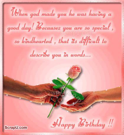 birthday happy describe words wishes scrapu friends dear friend status sis animate