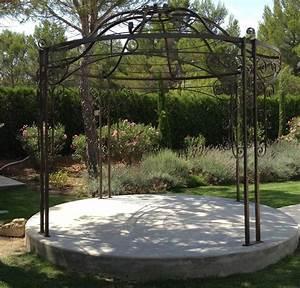 tonnelle de jardin en fer forge ferronnerie buchwalter With tonnelle jardin fer forge