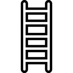 design leiter ladder thin outline icons free