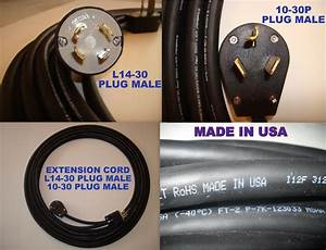 Extension Cord 50 Feet 250 V L14