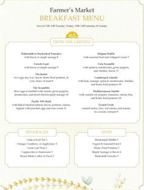 breakfast menus images breakfast menu menu