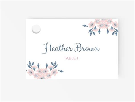 free blank wedding place card template wedding place cards editable ms word template diy