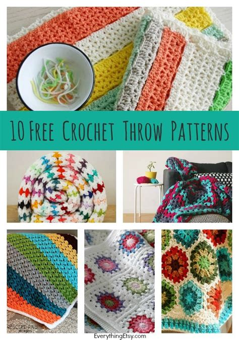 crochet throw patterns diy goodness