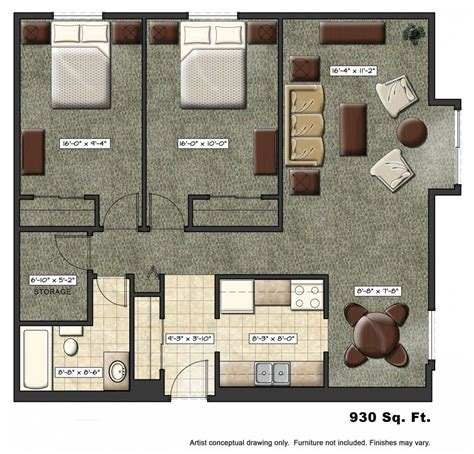 tiny apartment floor plans foundation dezin decor residential layouts 3d view