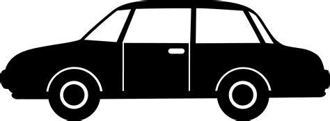cartoon car black and white black car silhouette free clip art