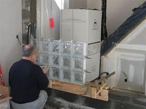 Brique De Verre Couleur : mur briques de verre notre blog l 39 avancement de notre maison castor evin malmaison dans ~ Melissatoandfro.com Idées de Décoration